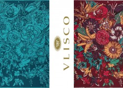 Vlisco's Expressive Hand Drawn Bouquet Fabrics